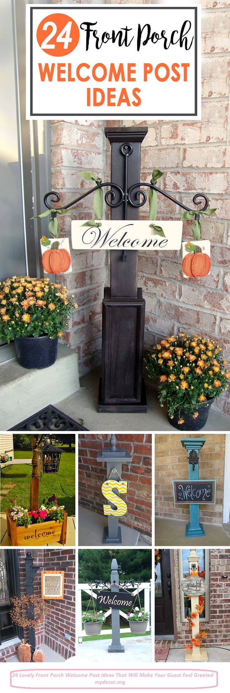Welcome posts are a great way to enhance the curb appeal of your home and make your front porch or entry way even more inviting. Regardless of your level of DIY skills, it is easy to transform any store-bought post into a unique and versatile accessory for your front porch that will add warmth...