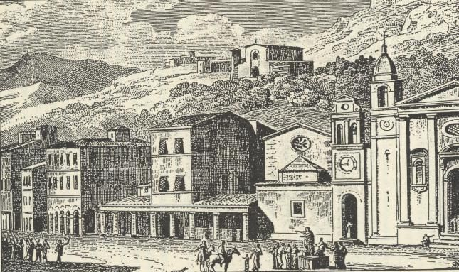 ZANTE - plateia tou Agiou Markou (1797),  drawn and engraved by Antoine laurent Castellan