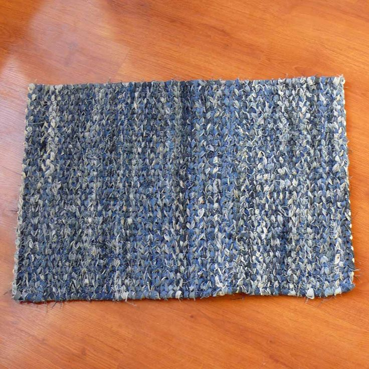 I Just Listed Denim Blue Twined Rag Rug On The CraftStar