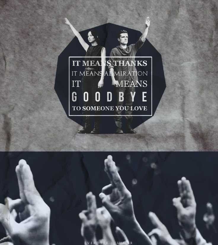 """""""It means thanks. It means admiration. It means goodbye to someone you love."""" - Katniss Everdeen"""