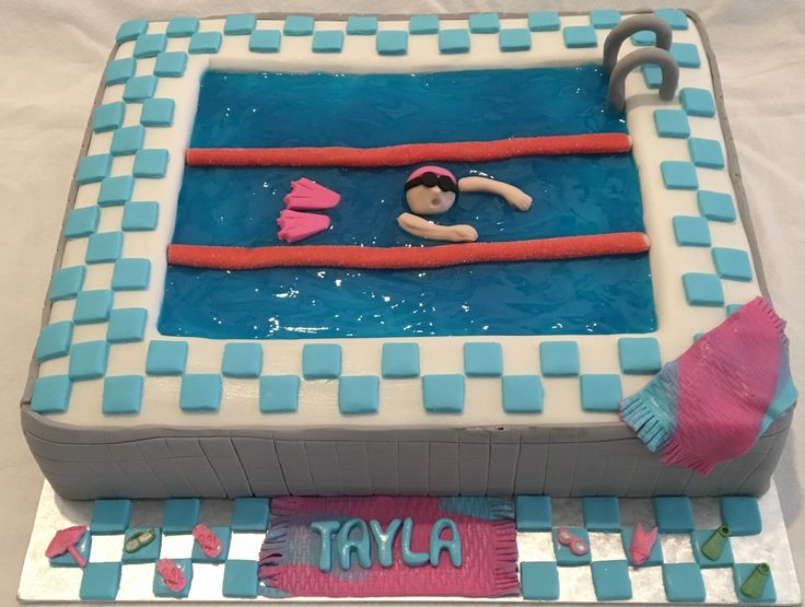 Swimming pool cake. MadeByMe MadeWithLove 💝