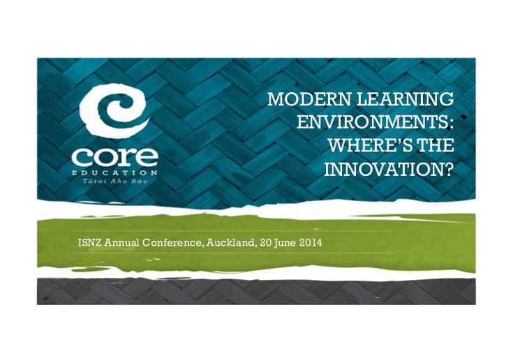 Keynote presentation to the Independent Schools Association of New Zealand - focusing on where the innovation really lies - with our practice. The environments…