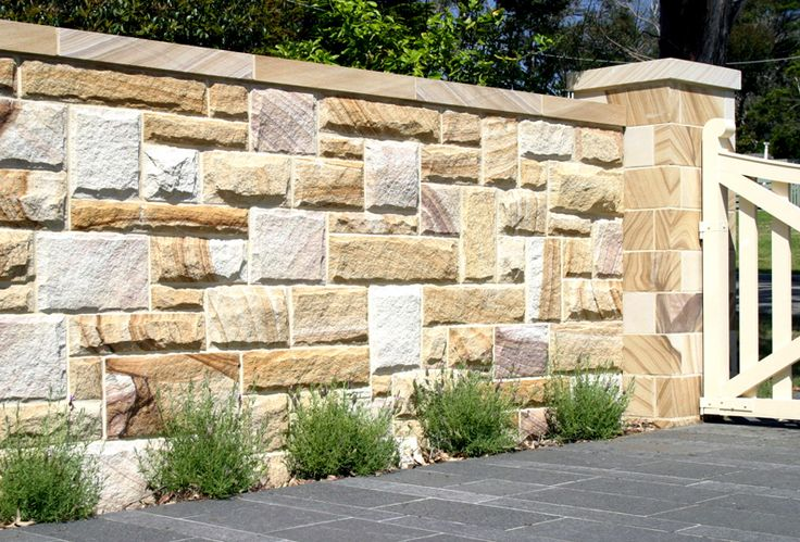rock face surface finish walling for exterior decor.