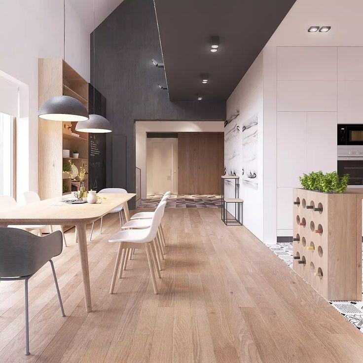 Oltre 25 fantastiche idee su pranzo soggiorno cucina su for Stanza da pranzo moderna