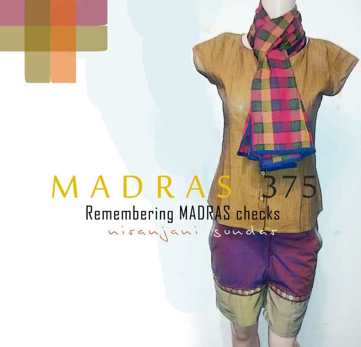 Remembering Madras Checks :) Interesting Woven stoles by THARI