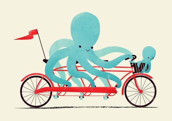 Poster | MY RED BIKE von Jay Fleck