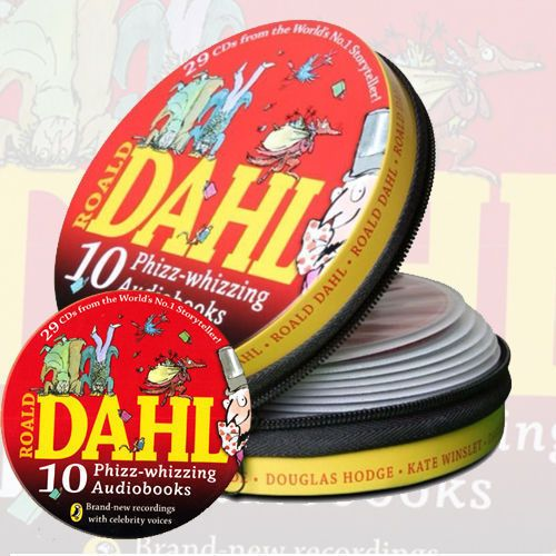 Roald Dahl Collection 10 Phizz-whizzing Audio books 29 CD Set Tin Pack NEW US