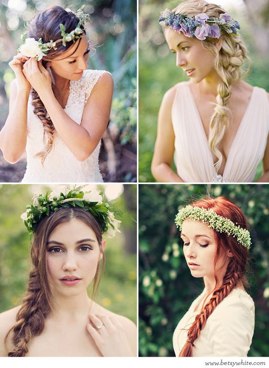 Beautifully Braided Brides (click for image sources)
