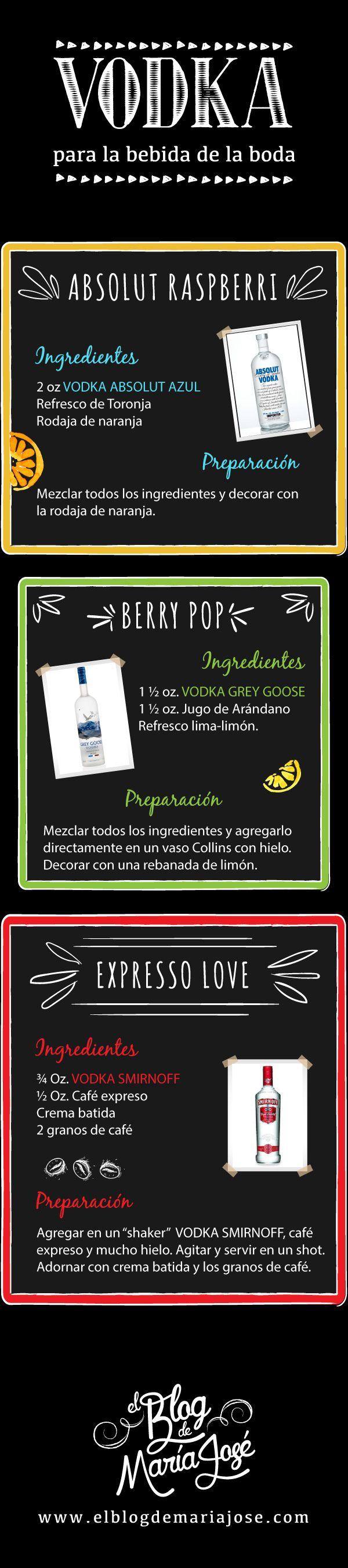 Vodka para la bebida de la boda #bodas #ElBlogdeMaríaJosé #BebidaBoda #Vodka #Cocktails