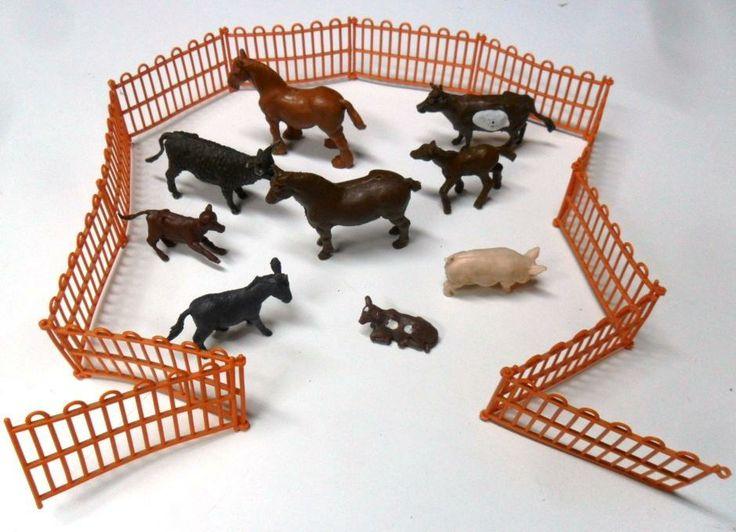 Figurki - ZWIERZĘTA HODOWLANE 9 sztuk   zagroda