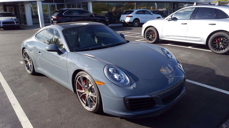 Although there were many jawdropping cars at the Porsche Dealership this car caught my eye. This is a 2017 Porsche 911 Carrera S. This midlife gen update has two major updates: the engine and the exterior bodywork. First of this gen of 911 is the first gen in which all 911's are turbocharged. The new engine is a twin turbocharged 3.0 liter  flat 6 cylinder (like a boxer engine) which makes 420hp and 365 lb ft. This car here has the 7 speed pdk which makes the Carrera S go from 0-60 in 3.9…