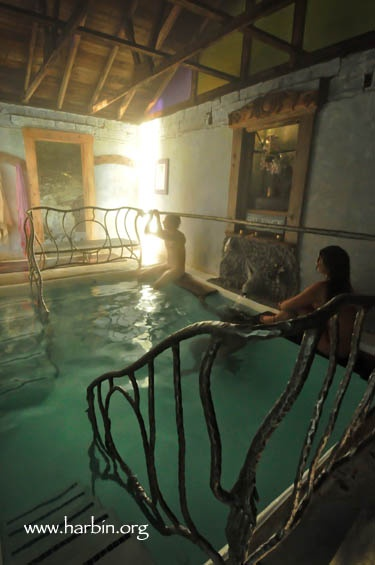 Harbin Hot Springs - This is their hottest pool of natural spring water... ranges from 110-113ºF.