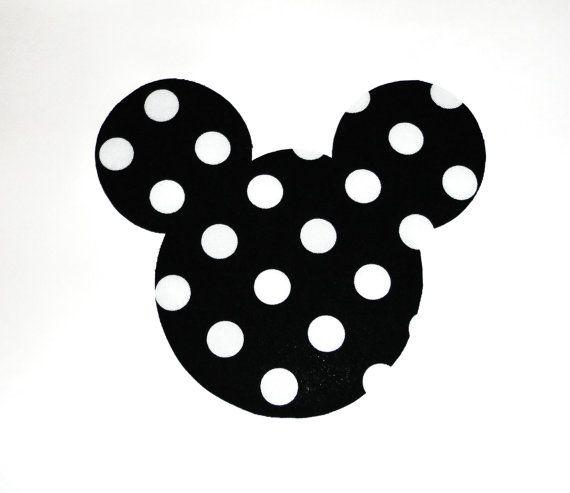 Iron On Applique BLACK And White Polka Dots MINNIE Mickey ...