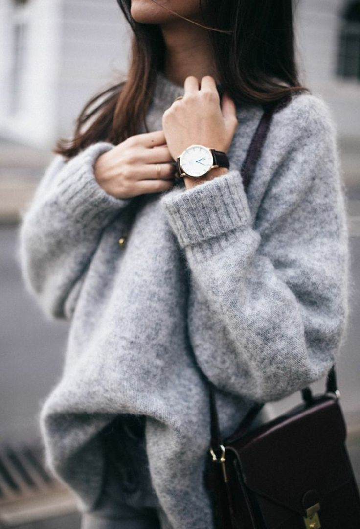Kashmir Pulli Sweatshirt Damen grau kuschelweich