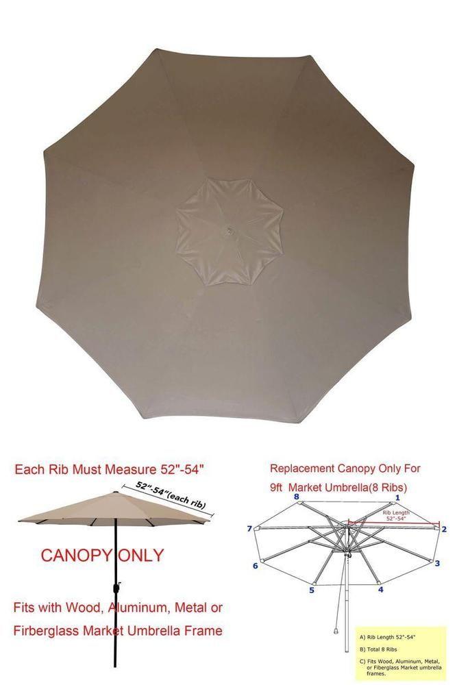 Patio Umbrella Canopy Market Table