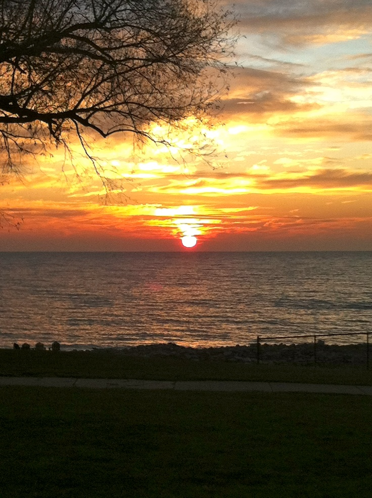 The gorgeous view a friend of mine gets to see every day at Carthage College in Kenosha Wisconsin!