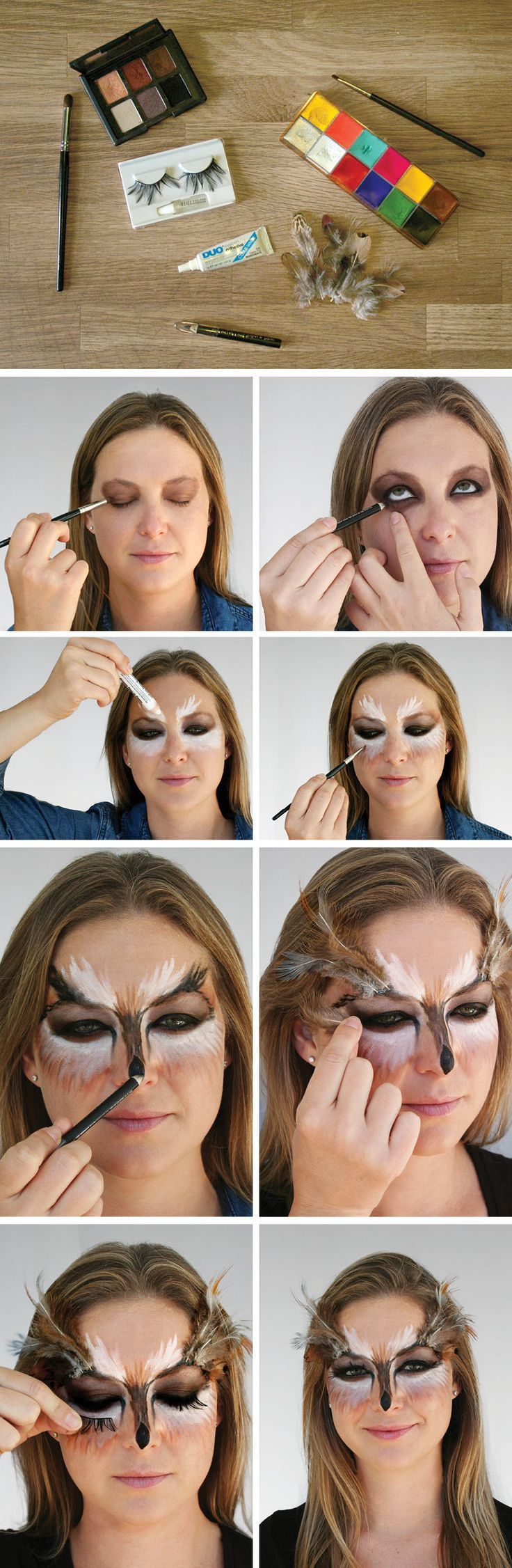 Need a jolt of last-minute #Halloween inspiration? We're 'owl' over it. #makeup #tutorial