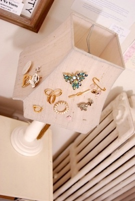 Jewellery storage - why haven't I thought of this?!?  This would be great to show off my great-grandma's hand-me-downs