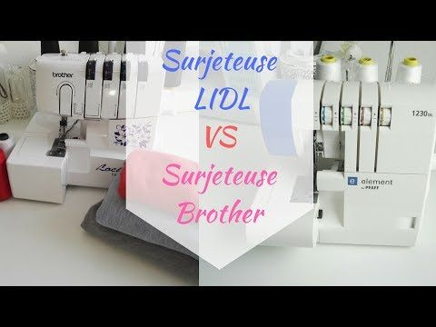 Surjeteuse Brother 1334d ou surjeteuse Lidl? - YouTube