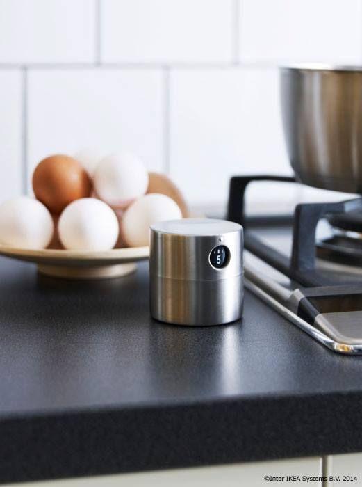 Ca să nu mai uiți niciodată ouăle pe foc atunci când le fierbi ORDNING Temporizator, inox 14,99 lei www.IKEA.ro/temporizator_ORDNING