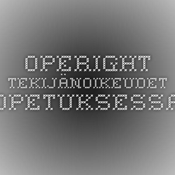 Operight - tekijänoikeudet opetuksessa