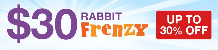 Up to 30% OFF at Lovehoney's $30 Rabbit Frenzy!