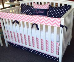 pink and navy comforter set - Google Search