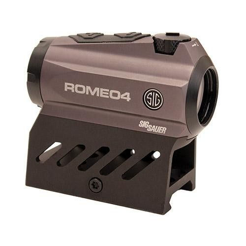 Romeo4 Red Dot Sights - 2 MOA Red Dot Reticle, .50 MoA Adjustments, Graphite