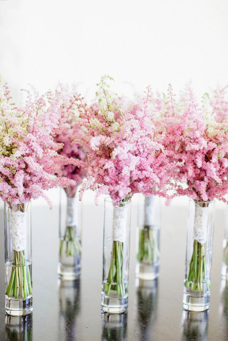 Astilbe as wedding flowers