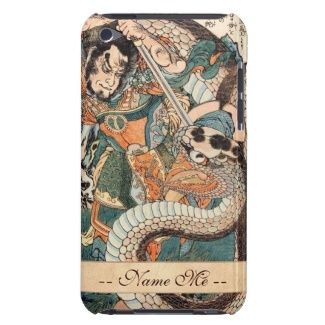 Utagawa Kuniyoshi suikoden hero fighting snake art iPod Case-Mate Case #Utagawa #Kuniyoshi #suikoden #hero #fighting #giant #snake #art #unique #customizable #japanese #accessories and #gifts from Zazzle #Japan #warrior #samurai #tale #legend #art #gift