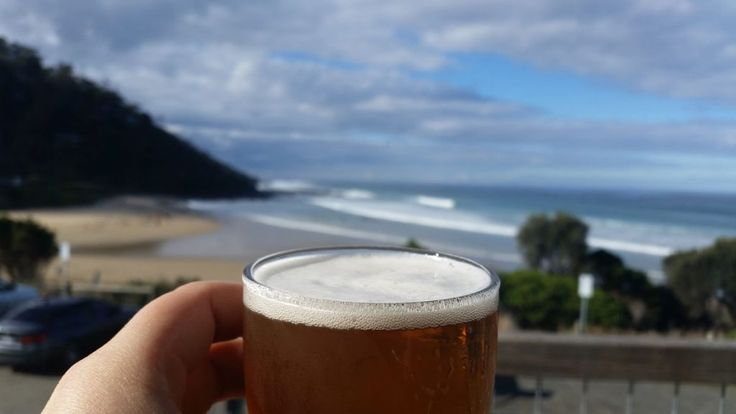 Chasing Beer views on the Great Ocean Road - this is the Wye river beach hotel ! You can camp out in the town so you can make the most of beer time in front of these views :)