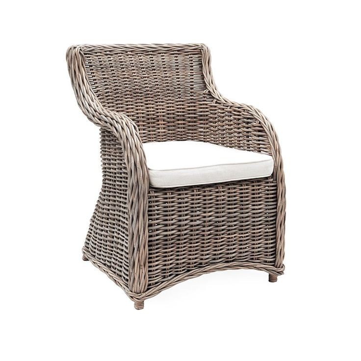 Roma Chair Natural Kubu - Dining Chairs Online Australia --------------------------------------------- Very attractive, very comfortable, the Roma chair is ideal for that outdoor covered area around a timber, GRC or Stone table. --------- #diningroomchairs, #diningchairs