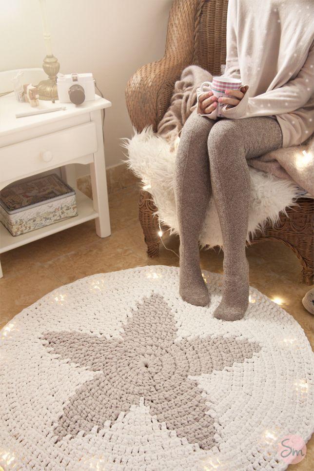 "Crocheted ""Star"" Rug - susimiu.es_.jpg (644×966) ~ ij"