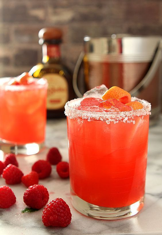 Grapefruit and Raspberry Margarita for National Margarita Day
