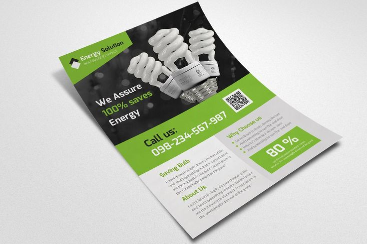 Energy saver flyer template in 2020 flyer template
