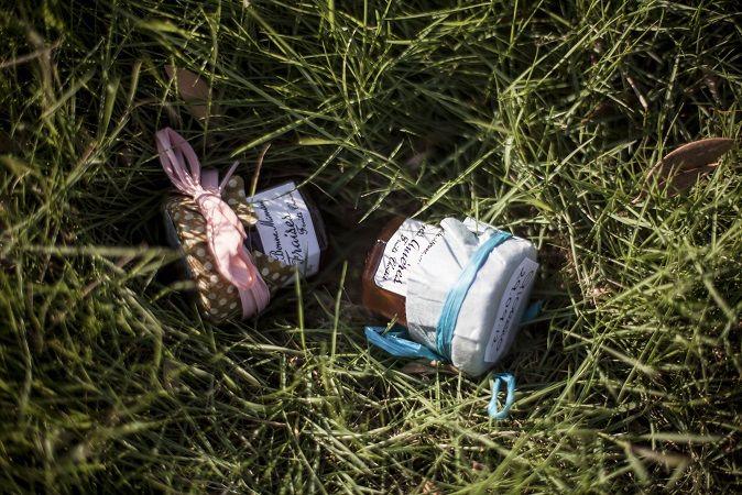 marmellata e miele segnaposto