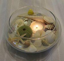 Candle Sand Sea Shells So Pretty Decorating Ideascraft