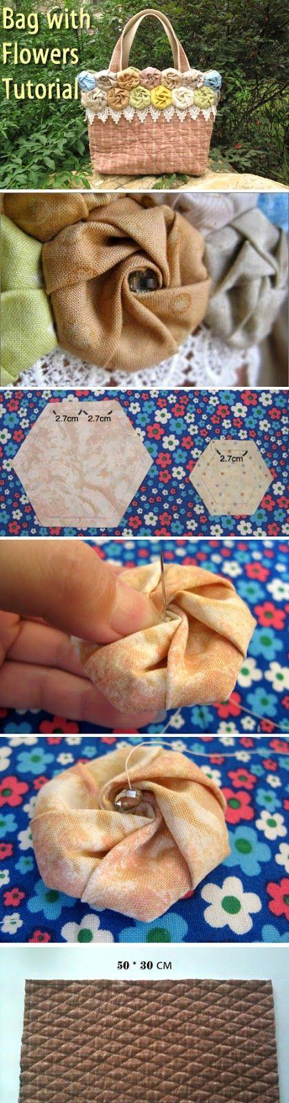 Summer Bag with Flowers. DIY tutorial http://www.handmadiya.com/2012/06/blog-post_09.html