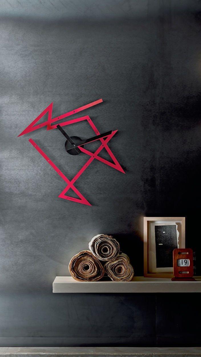 Reloj en acero de pared TIME MAZE - ALESSI