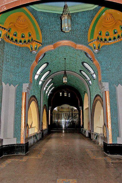 Inside the Art Nouveau Elephant House at the Budapest Zoo, Budapest, Hungary