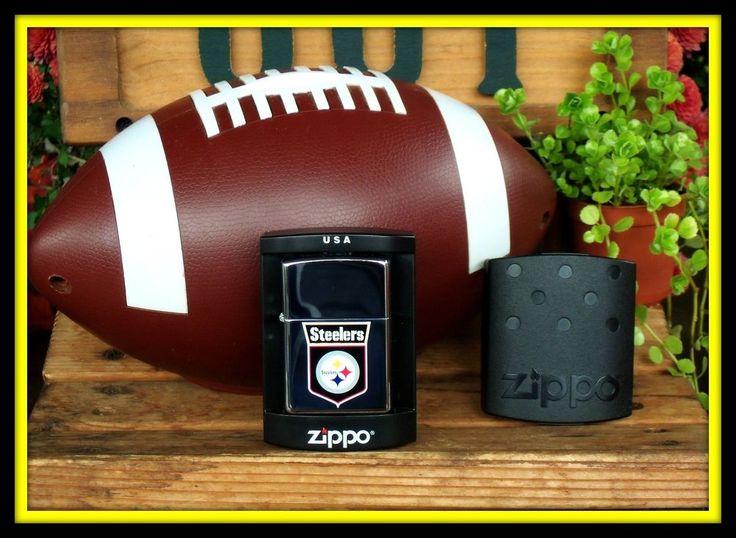 MINT Zippo Lighter - NFL Pittsburg Steelers - Made 2005 Season Win Super Bowl XL #ZIPPO #NFLPittsburghSteelers
