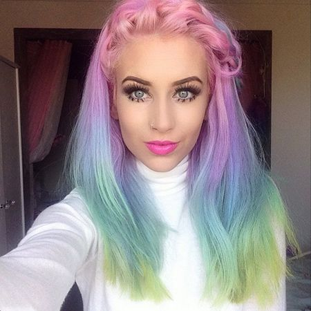 It Only Takes 20 Minutes to Create #RainbowHair