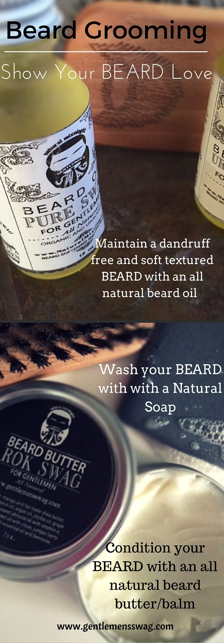 Grooming your Manly Beard with all natural beard oil and beard butter/balm will lead to a healthy and well maintained beard.