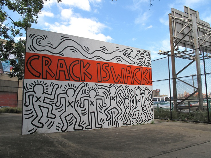 This is the other side of keith haring 39 s crack is wack for Crack is wack keith haring mural