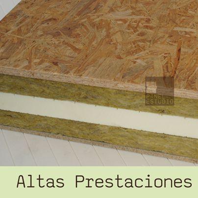 Panel de madera para cubierta con TRIPLE AISLAMIENTO TERMOACÚSTICO. Lana de Roca, XPS y Lana de Roca. Altas Prestaciones.