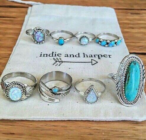 Indie and harper jewellery rings