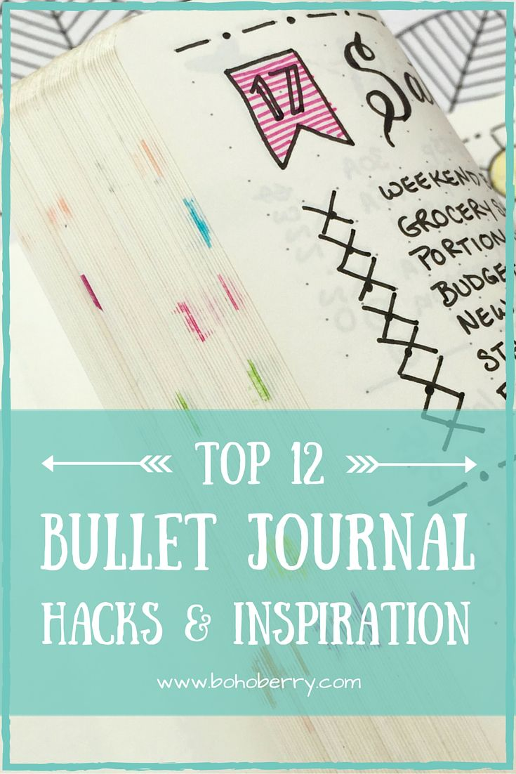 My favourite Bullet Journal post so far. Pinner said: The beauty of the Bullet Journal system is its flexibility. Here's 12 hacks to take your Bullet Journal to the next level!