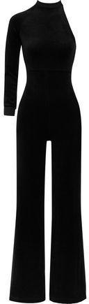 Vetements + Juicy Couture One-Shoulder Cotton-Blend Velour Jumpsuit