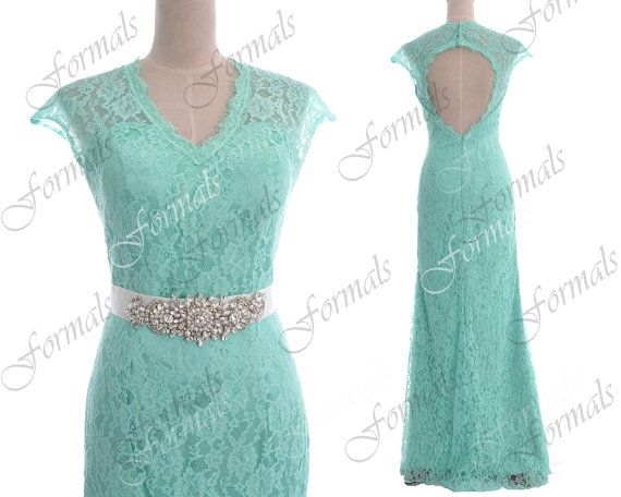 Mint Prom Dresses Lace Prom Gown 2014 Prom Dresses by Formals, $179.00