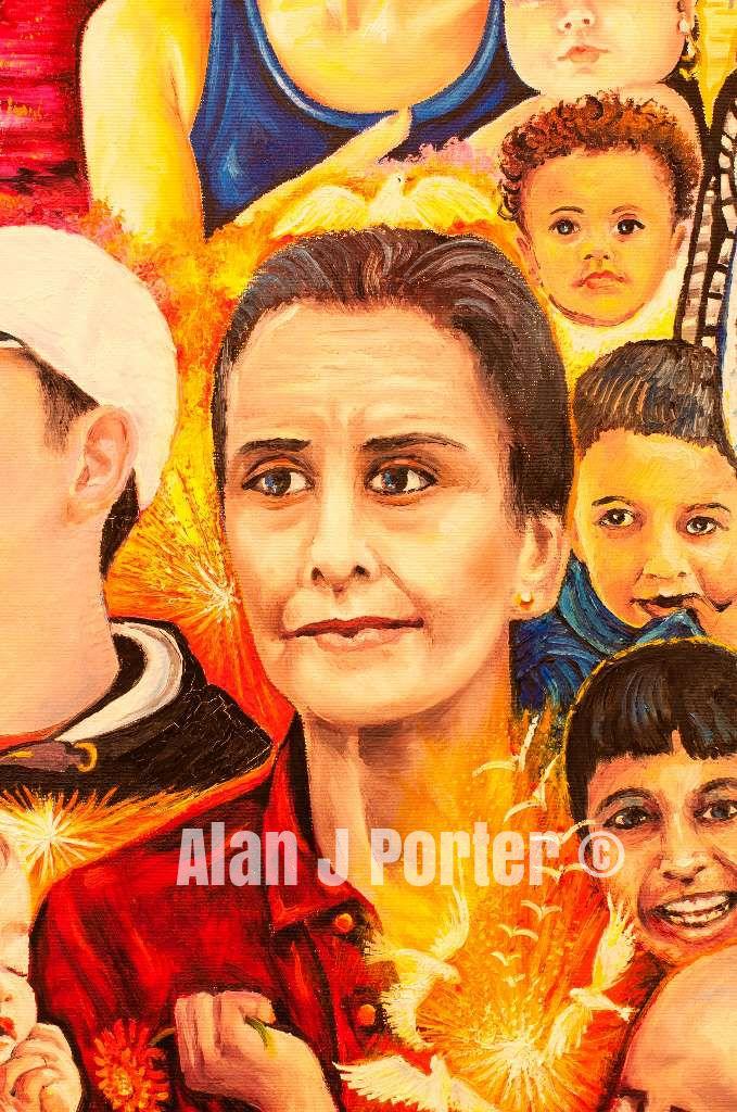 #alanjporterart #kompas #art #Saint #women #paintings #motherteresa #johnpaul #pope #padrepio #princess #men #ladydiana #aundreyhepburn